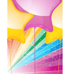 Star shaped balloons and starburst vector