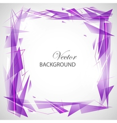 Violet abstract background with triangles vector image