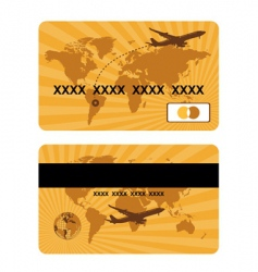 bank card design world travel vector image vector image