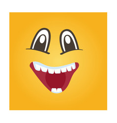 happy smiley face icon vector image vector image