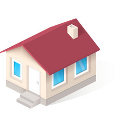 House isometric icon vector image vector image