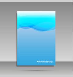minimalist design blue brochure cover banner vector image