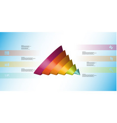 3d infographic template with cone sliced to six vector
