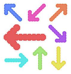 A set of unusual arrows of bright color simple vector