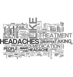 A wide array of effective headache treatments vector
