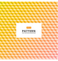 Abstract yellow 3d square geometrical pattern vector