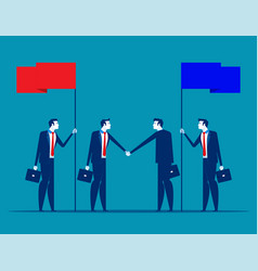 Agreement with partnership concept business vector