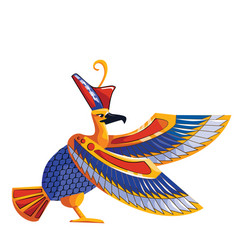 Ancient egypt sacred bird falcon vector