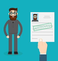 Approved paper vector image