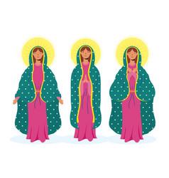 Assumption beautiful mary virgins vector