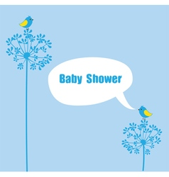 Baby shower birds vector