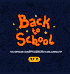 back to school sale template school supplies vector image