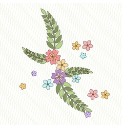 background with flowers and branches in the vector image