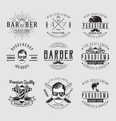 barber vintage logo vector image