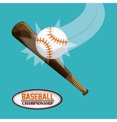 Baseball design sport icon Colorful vector image vector image