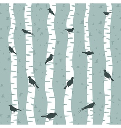 Bird on a birch vector