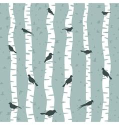 Bird on a birch vector image