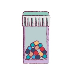 blur bottle with tap and colorful pills vector image