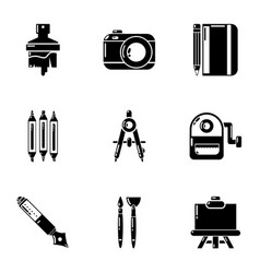 Brilliance icons set simple style vector