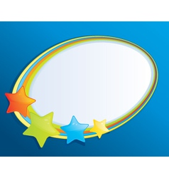 Bubble Speech with Stars vector image