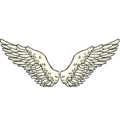 cartoon doodle wings vector image