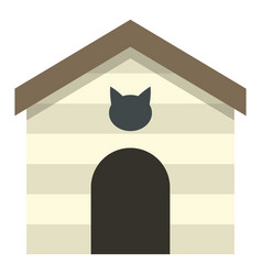Cat house icon isolated vector