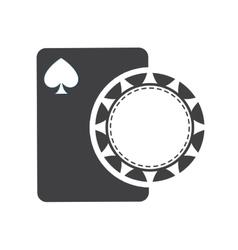 Chip card casino vegas vector