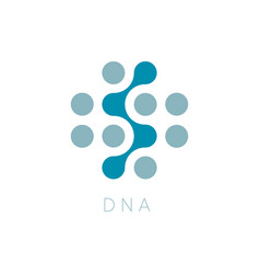circles icon dna logo template science vector image