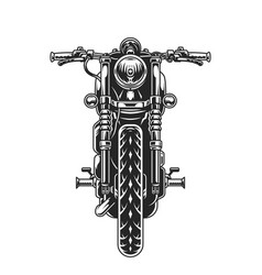 Classic motorcycle front view concept vector