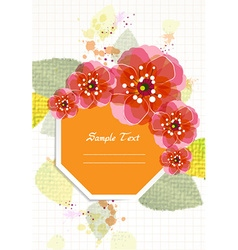 colorful floral vector image vector image