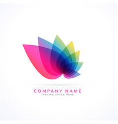 Colorful petals flower logo concept vector