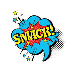 Comic speech chat bubble pop art style smack vector