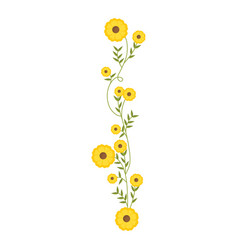 Creeper with yellow flowers floral design vector