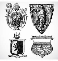 Crest set vector