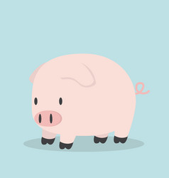 cute little pig cartoon vector image