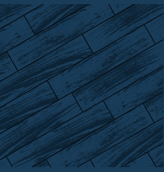 Dark blue wooden parquet vector