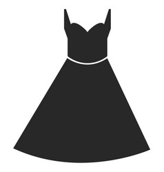 Dress icon on white background dress sign vector