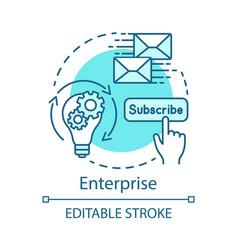 enterprise concept icon vector image