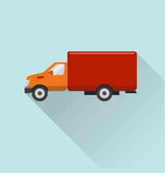 flat style truck icon vector image