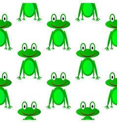 Frog seamless pattern vector