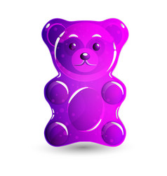 gummy bear pink vector image