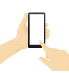 hand wit phone vector image