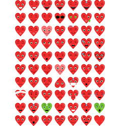 Hearth love emoticons vector