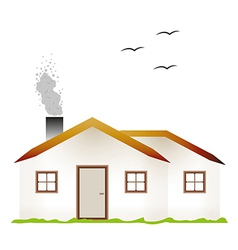 house and smoking chimney vector image