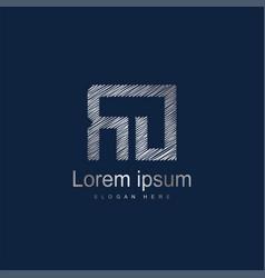 Initial letter ro logo template design vector