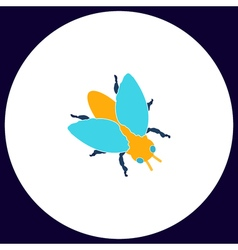 insect computer symbol vector image