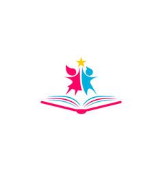 kids school logo vector image