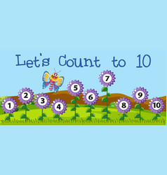 Lets count to 10 scene vector
