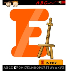letter e with easel cartoon vector image