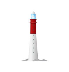 lighthouse or beacon tower nautical sea light vector image